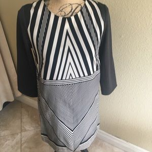 Black/ White Chevron Dress